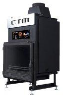 Krb s výměníkem CTM AQUAFIRE BASE 17 kW, rovné sklo