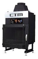 Krb s výměníkem CTM AQUAFIRE BASE 17 kW, prizmatické sklo